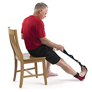 Seated foot arch stretch for plantar fasciitis