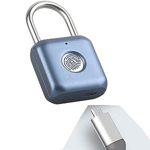 fingerprint padlock  a8