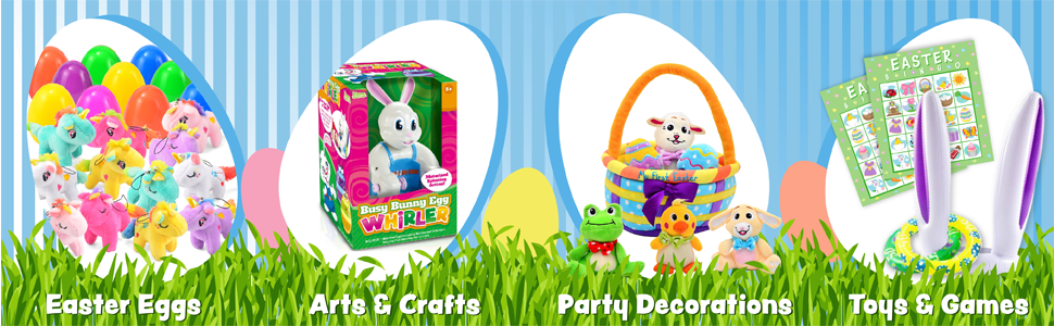JOYIN 24 Pack Easter Eggs Prefilled with 48 Animal-Themed Puzzle Erasers
