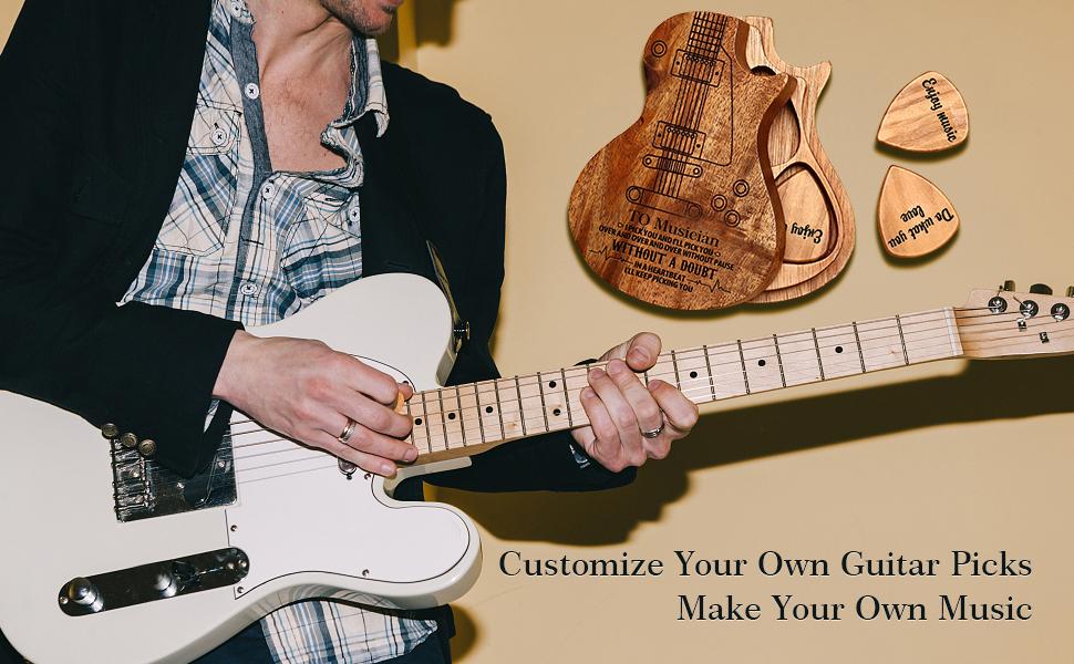 Customize Your OWN Guitar Picks