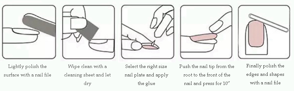 coffin nail tips