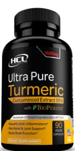 hcl herbal code labs turmeric curcumin ginger boswellia extract supplement spirulina capsules pills