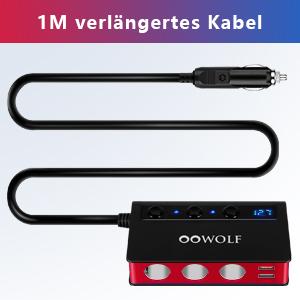 Oowolf Kfz Zigarettenanzünder Verteiler Qc 3 0 Elektronik