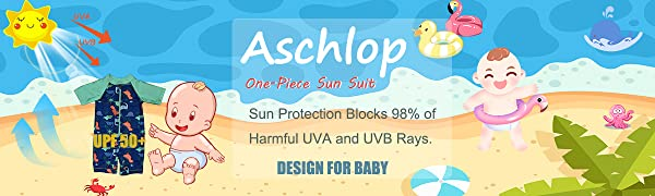 Aschlop Sun Suit swim suit UPF50+