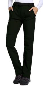 Women's Waterproof Pants Hiking Ski Snow Fish Fleece Lined Insulated Outdoor Golf Travel Pant