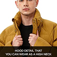 Hood detail that you can wear as a high neck