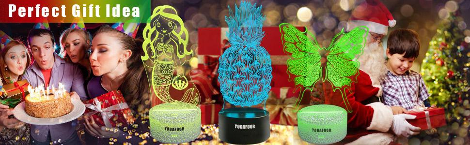 3d dinosaur soccer car mermaid nursery night light christmas birthday gifts for kids girls boys