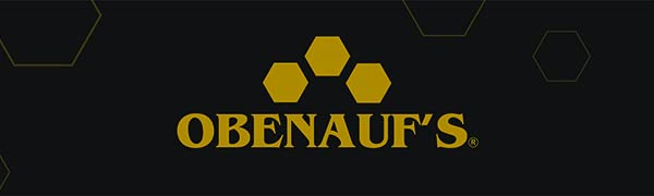 obenaufs your best leather protection black and gold hexagons logo