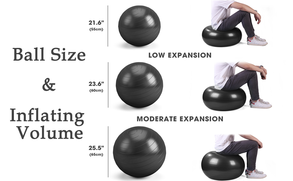 exercise ball 65cm fitness ball exercise balls for women stability ball for exercise balance ball