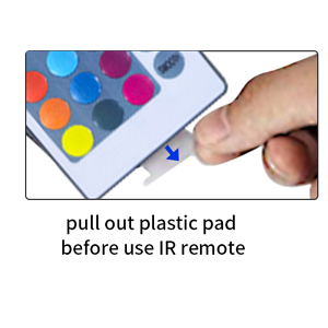 pull out plastic pad before use