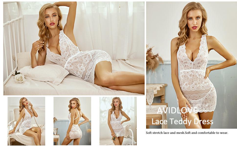 Lace teddy dress