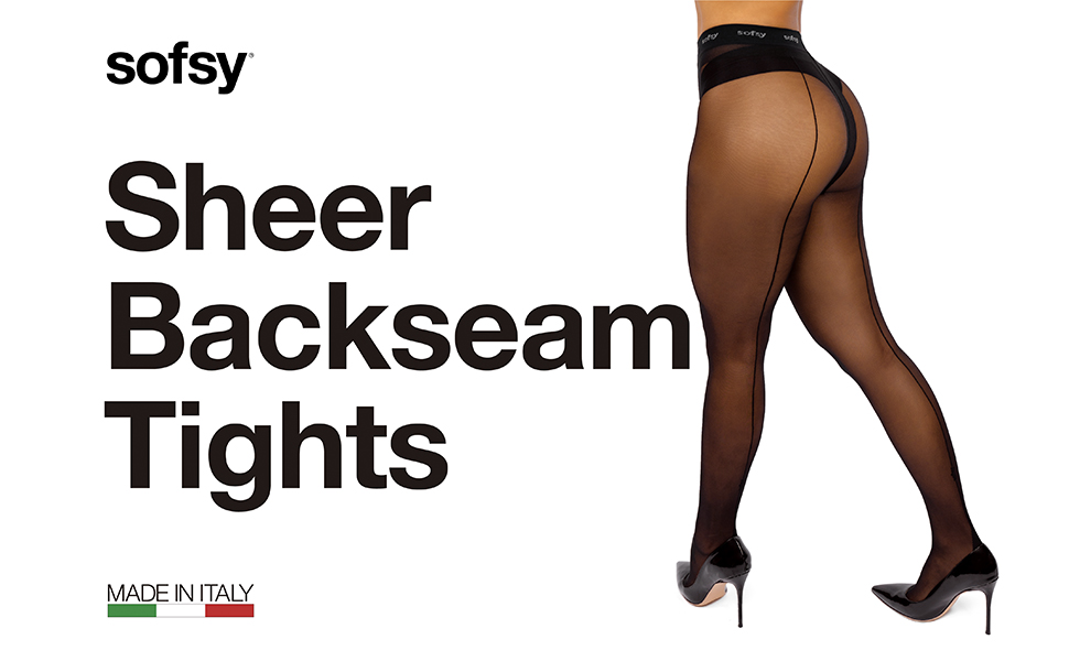 WIRE BACK SEAM Stockings BLACK O//S Barb OPAQUE Plain Top BARBED