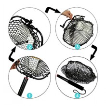 Foldable amp; Collapsible Fishing Nets - Portable Storage and Easy Carry.