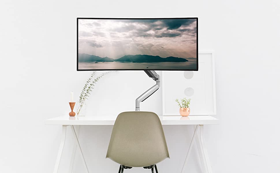 No more bend down your head to watch monitors, release your eye, back, and neck strain.