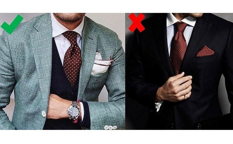 SET 55 GENTSY Herren Krawatte Einstecktuch 100/% Seide