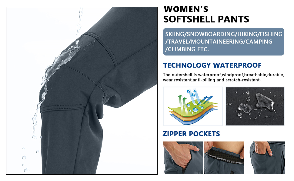 waterproof pants women hiking pants women snow pants womens winter pants for women ski pants