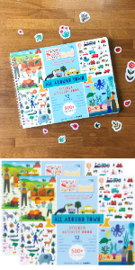 All Around Town Sticker Activity Book (Sibling Pack of 2)