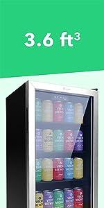 3.6 cuft beverage cooler