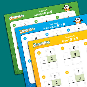 The color-coded flashcards keep things organized for simple teaching