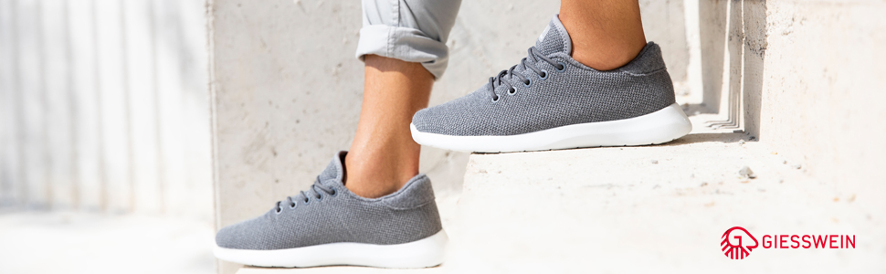 Sneakers da uomo traspiranti in lana merino, pantaloni da uomo