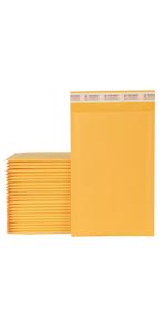 """XCGS 8.5x12"""" Yellow Kraft Bubble Envelope"""