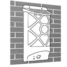 solar flame wall lantern