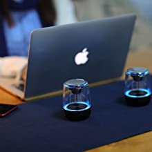 To work in an office  [2 Pack] Bluetooth Portable Speaker, True Wireless Stereo Speakers, Crystal Clear Stereo Sound, Rich Bass, 100 Ft Wireless Range, Microphone, LED Light Show, TF Card, Aux in, Mini Small Pocket Size¡ cbee4a60 2728 4078 9824 2c8b3016962a