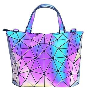 luminous purse geometric purse small lumikay reflective bag big luminous purse popular black bag