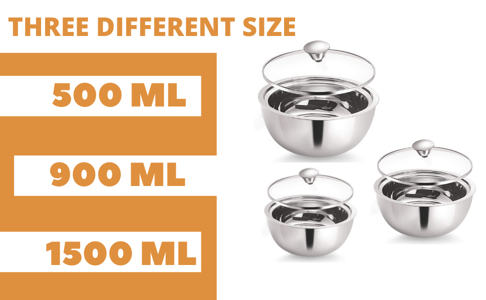 Stainless Steel Double Wall Insulated Curry Server Curry Bowl