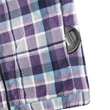 Women's Plaid Flannel Shirt Sherpa Fleece Hoodies