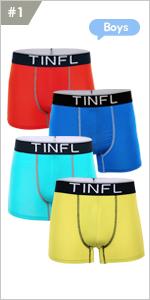 "/""TINFL/"" Big Boys Boxer Briefs Multi Pack Wide Band Underwear Set 8-16 Years"
