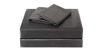 black satin bed sheet