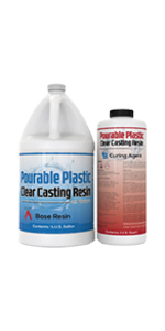 0.75 Gallon Three Quart Pourable Plastic Resin