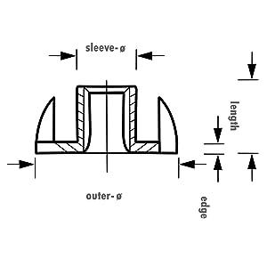 ALPIDEX 100 Tuercas de inserción cincada M10 para presas de Escalada resp. rocódromo/Pared de búlder