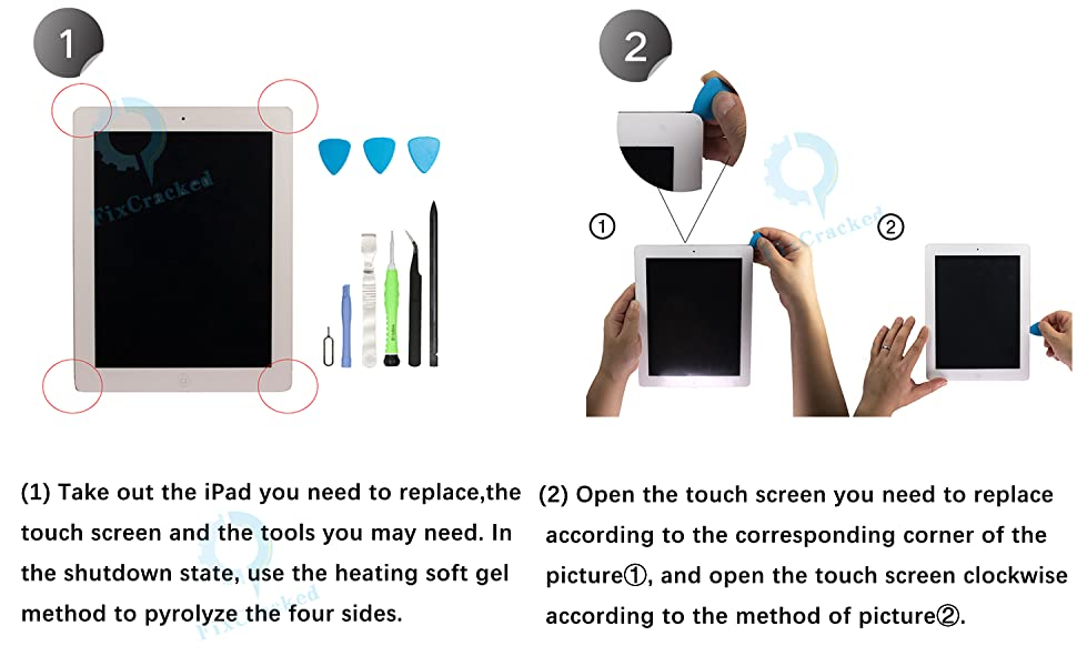 Trop Saint/® Black Touch Screen Glass for iPad 4 Adhesive and Frame Joint Front panel Digitizer with Home Button For Models - A1458, A1459, A1460