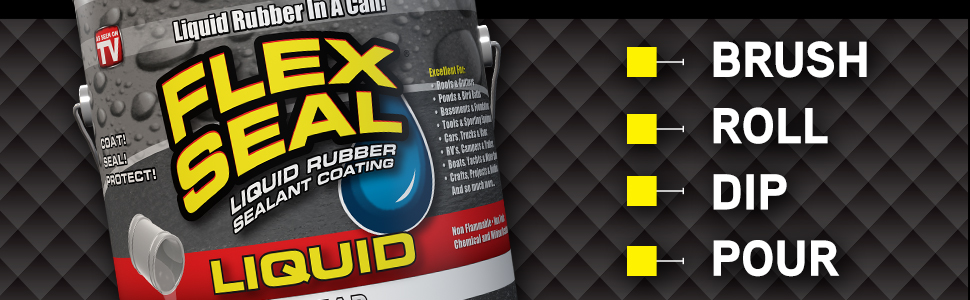 Flex Seal Liquid - Stop Leaks Fast.