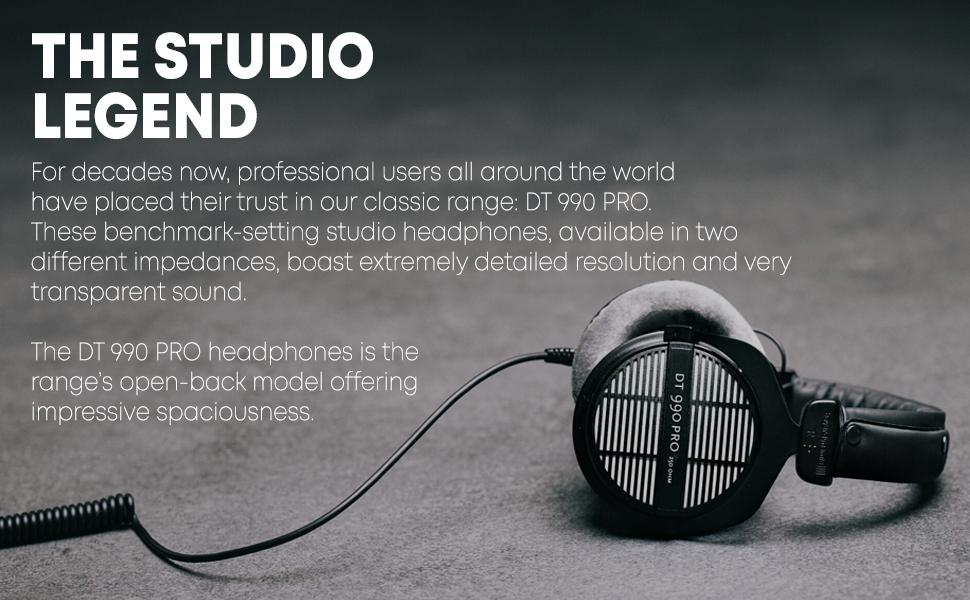 Beyerdynamic dt 990 pro professinoal dt990 studio headphones monitor recording mixing audio legend