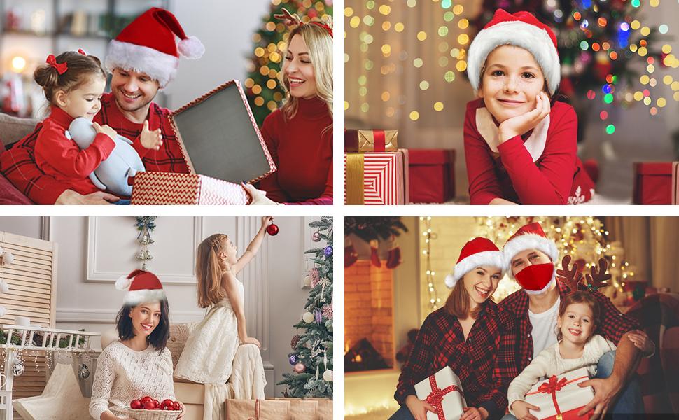 3 Piezas Masks-Mascarillas Pap/á Noel Navidad Visera
