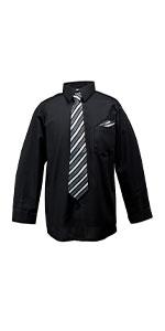 shirt, spring notion, formal, casual, long sleeve, black, tie