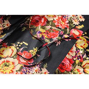 wedding getting ready lounge robe oblique v neck xx-large plus size short floral satin robe bride