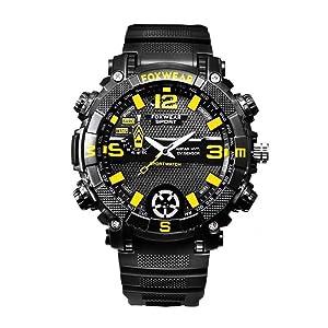 Kobert Goods Outdoor Armbanduhr Fox9c Analoge Smart Watch Mit Integrierter Kamera 32gb Speicher Für Foto Und Videoaufnahmen Inkl Mikrofon Für Audioaufnahmen Synchronisierten Und Led Lightning Baumarkt
