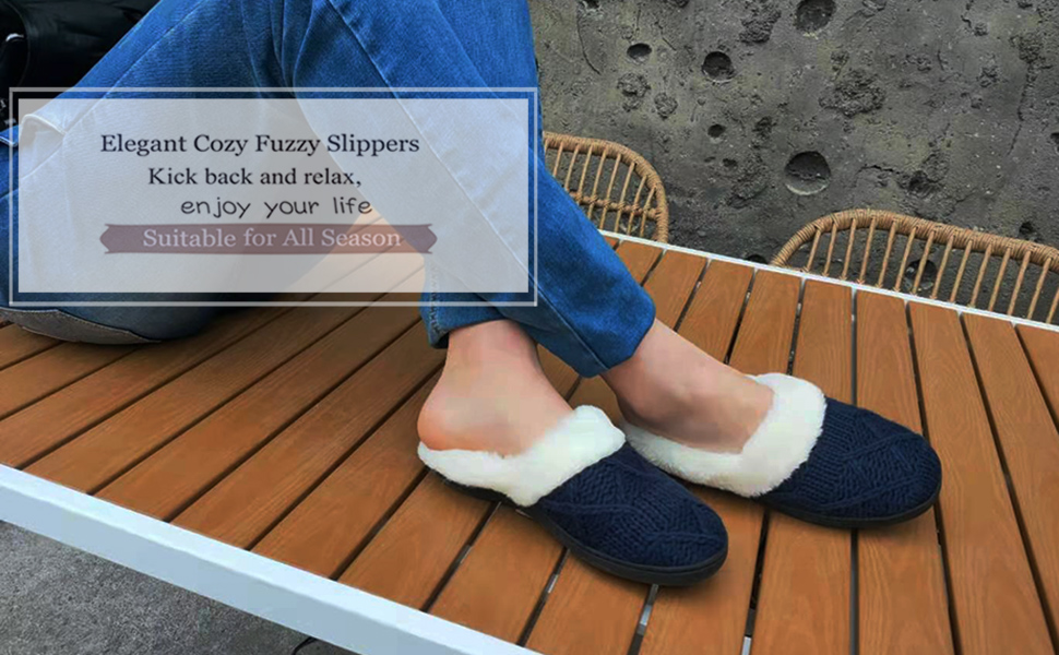 good motion Soft Fuzzy House Slippers
