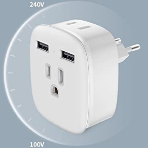 3 in 1 TYPE C European charger adapter