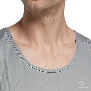 Men's Mesh Quick dry Workout Tank Top Shirt Running Vest Gym Singlet Sports Training Sleeveless