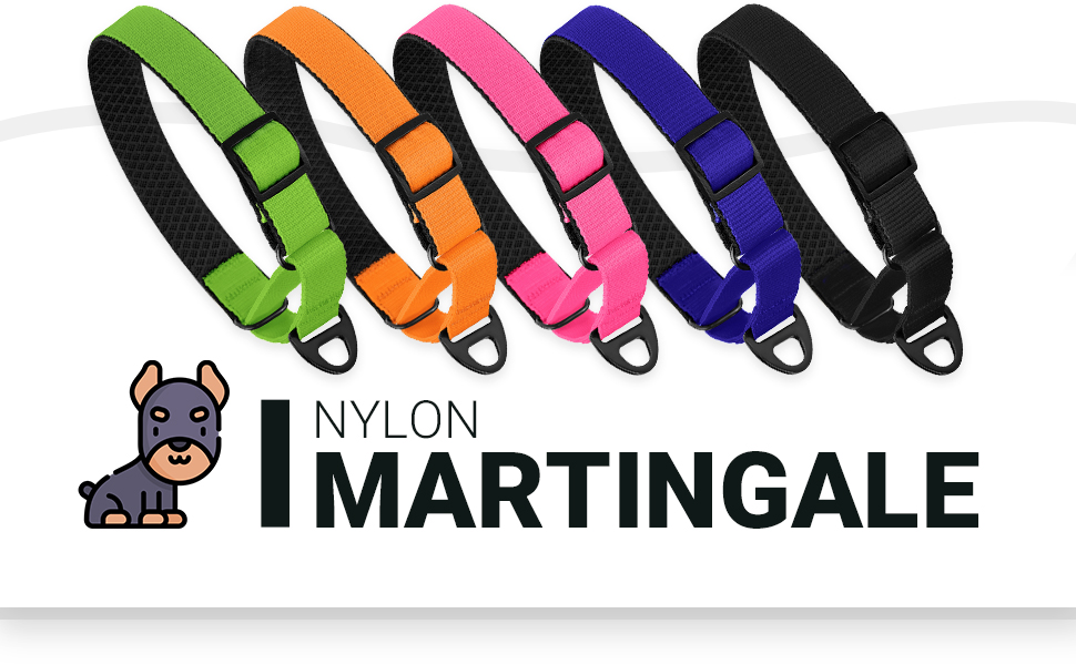 martingale collars for dogs with snap buckle large medium small training puppy nylon padded