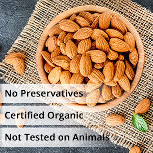 almond oil pure, cold pressed, no preservative, organic for healthy skin and hair