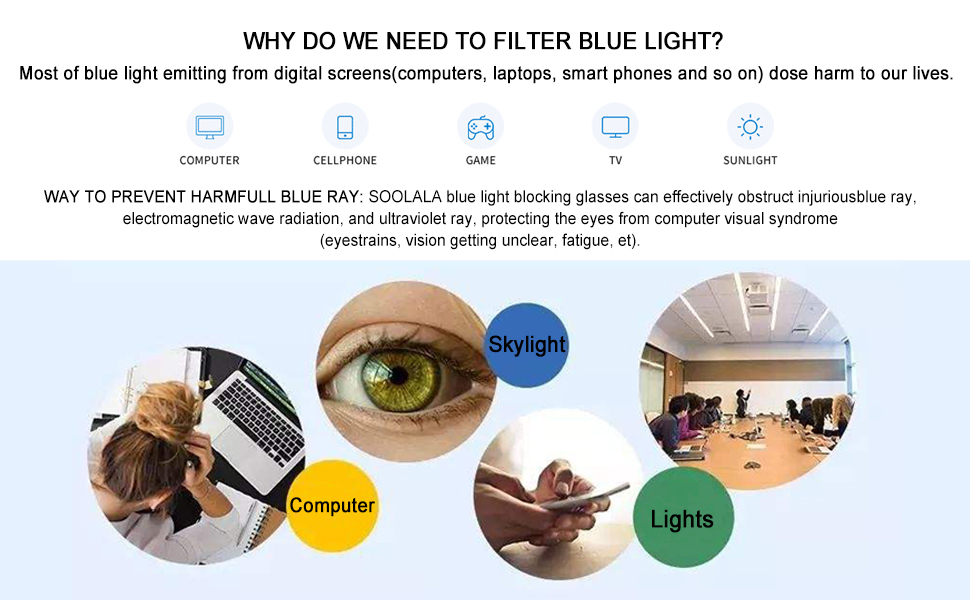 soolala blue light blocking lens reading glasses