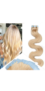 Body Wave Tape in Hair Extensions
