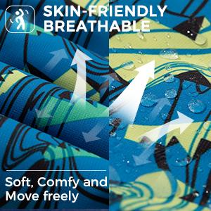 Skin-friendly breathable