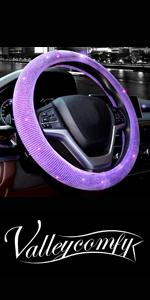 steering wheel cover for women bling diamond crystal rhinestone sparkle glitter purple